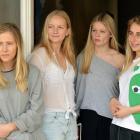 University of Otago students (from left) Kate Steele, Ella Sheetz, Lauren Dodd and Ella Berlin...