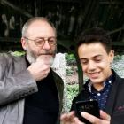 Games of Thrones star Liam Cunningham made a surprise visit to his supporter Syrian migrant...