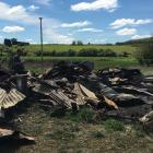 The scene of a fire in Waipahi. Photo Craig Baxter