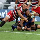 Naulia Dawai scores a try for Otago. Photo: Getty Images