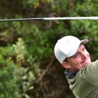 Jeremy Hall, of Southland, plays a tee shot on his way to winning the Otago men's championship...