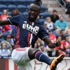 New England Revolution forward Kei Kamara was given a yellow card by the referee after he...