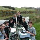 Three schools took part in scientific research into the water quality at Tomahawk Lagoon. Photo:...
