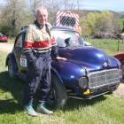 Temuka man Graeme Taylor with his Morris Minor that is ''like a big go-kart'', at the first...