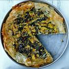 Silverbeet, rice and feta pie. Photo by SImon Lambert.