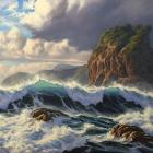 Piha Wild Sea by Samuel Earp
