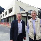 Skyline Enterprises Ltd chairman Mark Quickfall (left) and architect Michael Wyatt, in front of...