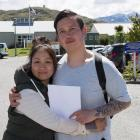 Pany Galdamez and her son, Robert (25), both of Melbourne, outside Lakes District Hospital...