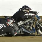Chey McWilliam and Dallas Kelman (driver) let rip on their  sidecar at Beachlands Speedway on...