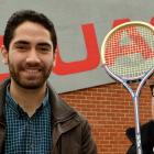 Otago University Squash Club president Tamati Brooks (left) and Squash Otago executive officer...