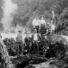 A very young Stanley Graham (bottom right)  with his family picnicking at the Hokitika Gorge....