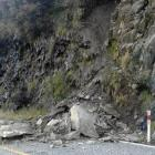 A section of State Highway 6 between Makarora and Lake Hawea has been reduced to a single lane...