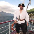 Wannabe pirate Robert Clarkson on TSS Earnslaw. Photo by Joanne Carroll.