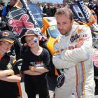 Wanaka boys James (left) and Marshall  Watson bust their ''cool racer'' pose with Australian GT...