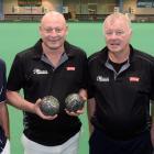 The winning team of (from left) Tony Cockerill, of Gore, Frank Monopoli, of Nelson, Bill Johnson,...