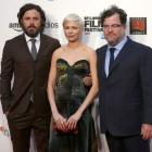 Actors Casey Affleck,Michelle Williams and director Kenneth Lonergan of 'Manchester by the Sea',...