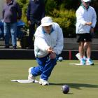 Mike Kernaghan in action at the Speight's Invitation singles at the North East Valley Bowling...