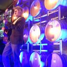 Neil Finn plays at Gibbston Valley Winery, near Queenstown, on Friday night. Photo: David Williams.