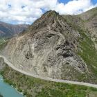 Part of the Nevis Bluff, about halfway between Cromwell and Queenstown on State Highway 6, as...