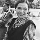 Rosa Parks with Dr Martin Luther King jun (c. 1955). Photo from Ebony Magazine/US National Archives.