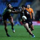 Kiwis backrower Jason Taumalolo on the run in the Four Nations final. Photo: Getty Images