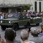 The caravan carrying the ashes of Fidel Castro on the way to the city of Santiago, in Cardenas,...