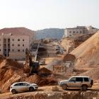 A construction sitein the Israeli settlement of Beitar Ilit, in the occupied West Bank, this week...