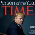 The cover of Time magazine featuring Donald Trump. Photo Reuters