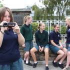 Roxburgh Area School pupils Mackenzie Reid (13, left), Greer Orchard (14), Paige Wise (14),...
