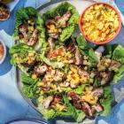 Annabel Langbein's jerk chicken with Caribbean salsa. Photo supplied.