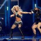 Britney Spears performs with dancers during the iHeartRadio Music Festival in Las Vegas. Photo:...