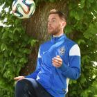 Irishman Danny Furlong (27) at Football South headquarters yesterday.  He will play his first...