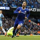 Eden Hazard celebrates Chelsea's third goal. Photo: Reuters