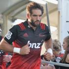 Samuel Whitelock (R) will take over as captain of the Crusaders from Kieran Read (L)  next season...