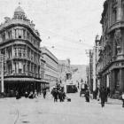 Dunedin street scene at the intersection of Princes and High Streets, looking towards Mornington....