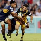 Nehe Milner-Skudder in Super Rugby action for the Hurricanes against the Brumbies. Photo Getty