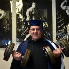 Personal trainer Paul Christensen prepares to graduate from Otago Polytechnic. Photo: Gregor...