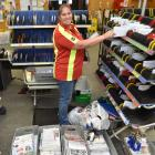 New Zealand Post South Dunedin depot team leader Nicki Templeton sorts through some of the...