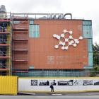 The removal of scaffolding has revealed the new exterior of University of Otago's chemistry...