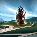 An artist's impression of the new sculpture set to go in on the new Hemo Gorge roundabout. Photo:...