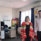 Presbyterian Support Otago group work manager Rae Hubac (left) and PSO communications member...