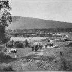 A view from the traffic bridge at Tahakopa, South Otago, looking towards the station. - Otago...
