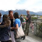 IMG 6528: Te Anau Airport, Manapouri terminal set in Fiordland, with mountainous views. People...