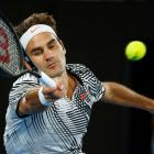 Roger Federer plays a shot on his way to victory over Tomas Berdych. Photo: Reuters