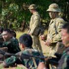 Australian and Indonesian troops train together in this file photograph from Reuters.