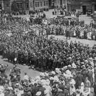 The Otago and Southland quota of the 24th Reinforcements are farewelled at the Dunedin Railway...