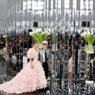 Designer Karl Lagerfeld with model and muse Lily-Rose Depp. Photo: Reuters.