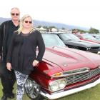 Barry and Liz Carmichael, of Dunedin, with their  1959 Chevrolet Impala Sports Coupe at the...