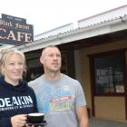 The new owners of Naseby's Black Forest cafe Bridget Becker and Dean McAuley say they are finding...