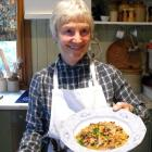 Ann Barsby with her bean and pork dish. Photo: ODT files